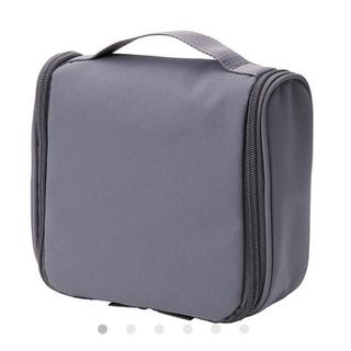 ムジルシリョウヒン(MUJI (無印良品))の無印ポリエステル吊して使える洗面用具ケース& 重なるラタン長方形ボックス小セット(その他)
