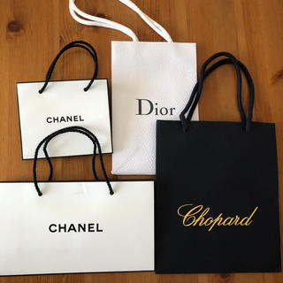 ショパール(Chopard)のショップ袋 4枚 ショパール シャネル CD(ショップ袋)
