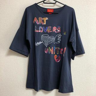 ヴィヴィアンウエストウッド(Vivienne Westwood)のvivienne westwood 7分袖 Tシャツ ネイビー(Tシャツ(長袖/七分))