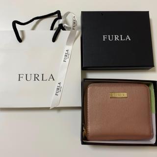 フルラ(Furla)のFURLA 二つ折り財布  メタリック ピンク (折り財布)