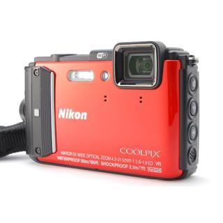 ニコン(Nikon)の★防水コンデジ★ Nikon COOLPIX AW130 オレンジ(コンパクトデジタルカメラ)