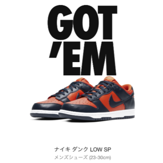 ナイキ(NIKE)のNIKE DUNK LOW SP Champ Colors 29(スニーカー)