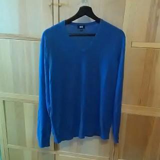 ユニクロ(UNIQLO)のユニクロ Vネック綿セーター(ニット/セーター)
