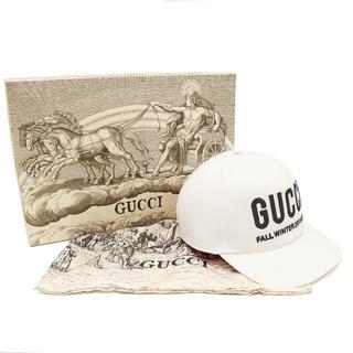 グッチ(Gucci)のGUCCI ベースボールキャップ ロゴ刺繍 ホワイト L58 A2790(キャップ)