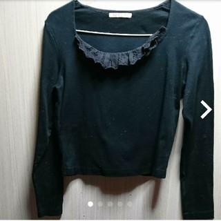ピンクハウス(PINK HOUSE)のアツキオオニシ✨トップス カットソー襟元フリル(Tシャツ(長袖/七分))