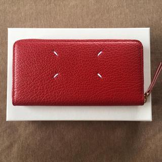 マルタンマルジェラ(Maison Martin Margiela)の新品 メゾン マルジェラ グレインレザー 長財布 レディース レッド 財布(財布)