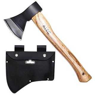 ブラックALEC 斧 薪割り キャンプ アウトドアにおすすめ [ブラック 38c(その他)