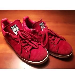 アディダス(adidas)のadidas/STAN SMITHスエードスニーカー赤 リタオラコラボ(スニーカー)