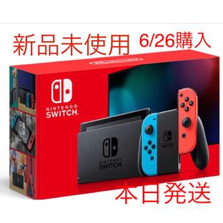 ニンテンドースイッチ(Nintendo Switch)の新品未開封★Switch 任天堂スイッチ 本体 ネオンブルー ニンテンドウ(家庭用ゲーム機本体)