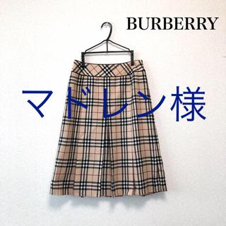 BURBERRY - BURBERRY LONDON 膝丈 スカート ノバチェック 40号 バーバリー