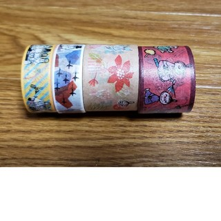ガッケン(学研)のムーミンマスキングテープ4巻き(テープ/マスキングテープ)
