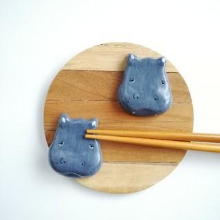 カバ 箸置きセット(テーブル用品)