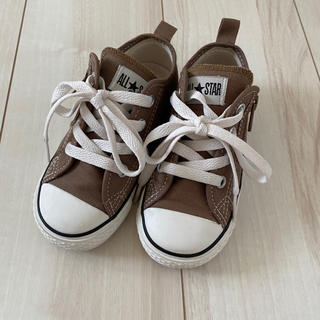 CONVERSE - CONVERSE キッズ ローカット ブラウン 16