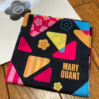 マリークワント(MARY QUANT)の新品 マリークワント アイシャドウ柄 ハンカチ 黒 ラスト(ハンカチ)