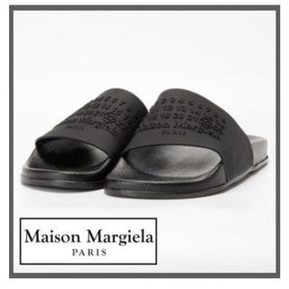 マルタンマルジェラ(Maison Martin Margiela)のMaison Margiela  ロゴ スライズ  20SSモデル  サイズ41(サンダル)