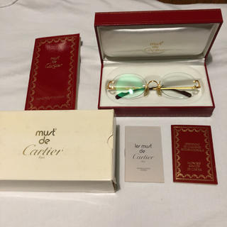 カルティエ(Cartier)の本日限り Cartier リムレス メガネ ヴィンテージ(サングラス/メガネ)