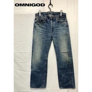 オムニゴッド(OMNIGOD)のONNIGOD/オムニゴッド Lot.50909 ユーズド加工デニムパンツ(デニム/ジーンズ)
