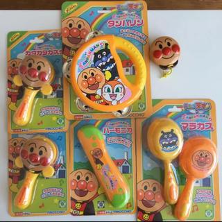 アンパンマン(アンパンマン)のアンパンマン 楽器おもちゃ 未使用未開封4つ 中古2つ セット(楽器のおもちゃ)
