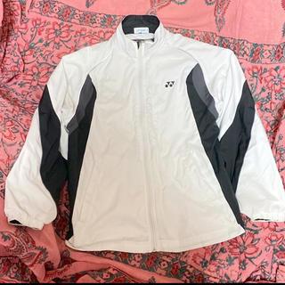 ヨネックス(YONEX)のYONEX ウインドブレーカー M ヒートカプセル ジョギング USED 白 黒(ウェア)