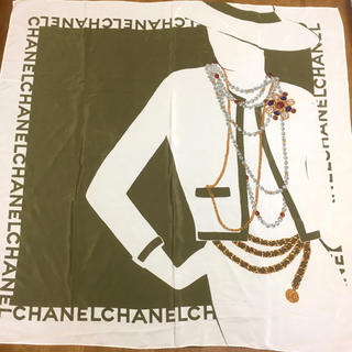 シャネル(CHANEL)の90's CHANEL シャネル スカーフ ヴィンテージ(バンダナ/スカーフ)