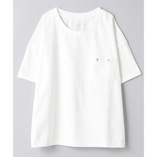 ジーナシス(JEANASIS)のjeanasis  US コットン   ポケプルオーバー 白Tシャツ(Tシャツ/カットソー(半袖/袖なし))