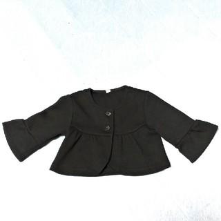 ニシマツヤ(西松屋)のキッズカーディガン ボレロ 黒 サイズ95センチ フォーマル(カーディガン)