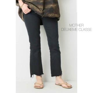 DEUXIEME CLASSE - 未使用品★DEUXIEME CLASSE MOTHER★ ブラックデニム 25