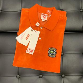 シュプリーム(Supreme)のSupreme Lacoste Velour Polo オレンジ S 国内正規品(ポロシャツ)