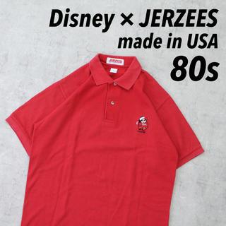 ディズニー(Disney)の80s USA製 JERZEES × Disneyワンポイント刺繍 ミッキー(ポロシャツ)