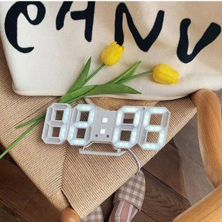 ムジルシリョウヒン(MUJI (無印良品))のデジタル 時計 韓国 インテリア(掛時計/柱時計)