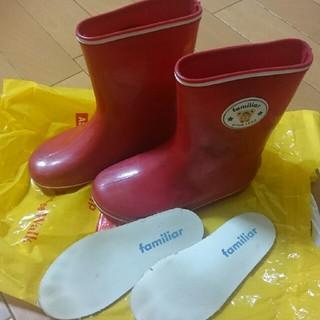 ファミリア(familiar)のファミリア 長靴 赤 17cm(長靴/レインシューズ)