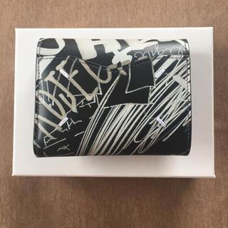 マルタンマルジェラ(Maison Martin Margiela)の19AW新品 メゾン マルジェラ グラフィティ エンベロープ 折り財布 ブラック(財布)