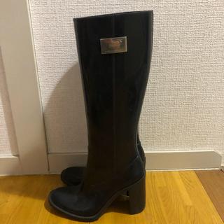 アルマーニ コレツィオーニ(ARMANI COLLEZIONI)のレインブーツ ロングブーツ 黒 アルマーニ  未使用(レインブーツ/長靴)