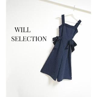 ウィルセレクション(WILLSELECTION)のWILLSELECTION ドット サイドリボン オールインワン(オールインワン)