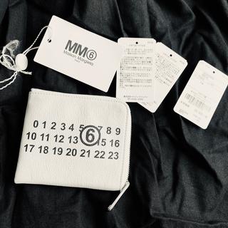 エムエムシックス(MM6)のMM6 Maison Margiela ウォレット ホワイト(財布)