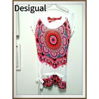 デシグアル(DESIGUAL)のスペイン発Desigual ビビッド Tシャツ チュニック ロング (Tシャツ(半袖/袖なし))