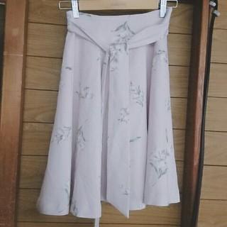 アンドクチュール(And Couture)の可憐⭐花柄フレアスカート(ひざ丈スカート)
