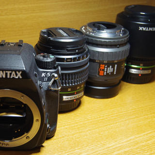 ペンタックス(PENTAX)のPENTAX K-5Ⅱ 完動品 レンズ3本付(デジタル一眼)