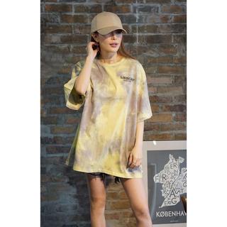 ジェイダ(GYDA)の完売!ミラーナインTie-dye Tshirts XL イエロー(Tシャツ/カットソー(半袖/袖なし))