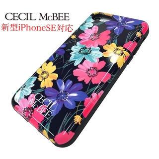 ☆ セシルマクビー iPhoneSE 第2世代 iPhone ケース 黒  ☆