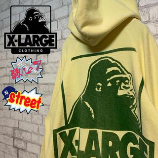 エクストララージ(XLARGE)の【激レア】X-LARGE エクストララージ/パーカー 裏返し 超ビッグロゴ (パーカー)