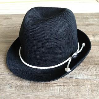アンパサンド(ampersand)の新品タグ付き AMPERSAND 帽子52 ストローハット 麦わら帽子(帽子)