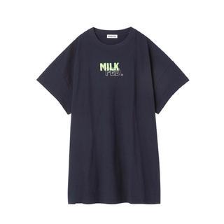 ミルクフェド(MILKFED.)のLAYERED LOGO BIG TEE   milkfed.(Tシャツ(半袖/袖なし))