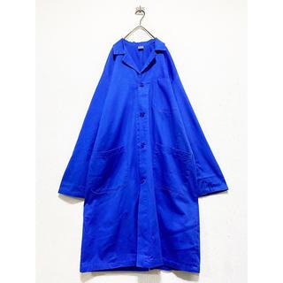 マルタンマルジェラ(Maison Martin Margiela)のvintage ヴィンテージ イタリア製 ブルー ワークコート アトリエコート(ステンカラーコート)