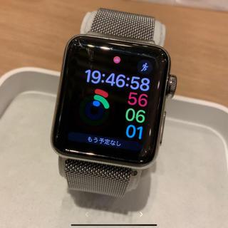 アップルウォッチ(Apple Watch)の(純正品) Apple Watch series2 38mm シルバーステンレス(腕時計(デジタル))
