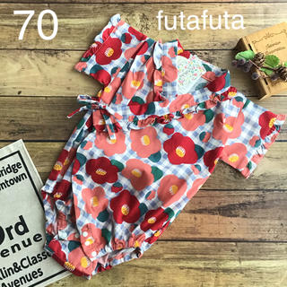 フタフタ(futafuta)の【70】フタフタ ツバキ 甚平 ロンパース(甚平/浴衣)