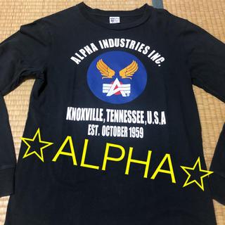 アルファ(alpha)のALPHA ロンT 即購入可☆(Tシャツ/カットソー(七分/長袖))