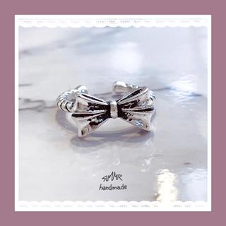 silver925 アンティーク リボン リング(リング(指輪))