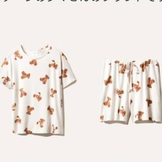 ジェラートピケ(gelato pique)のベアモチーフ抗菌防臭Tシャツ パンツセット(ルームウェア)