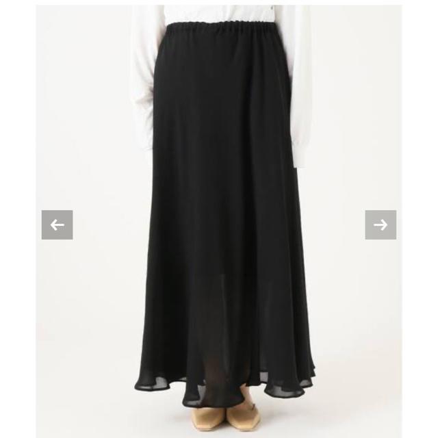 Plage(プラージュ)のplage プラージュ Crepe ギャザーロングスカート レディースのスカート(ロングスカート)の商品写真